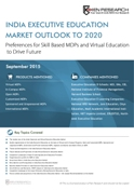 India Executive Education Market Outlook to 2020 - Preference for Skill Based MDPs and Virtual Education to Drive Future